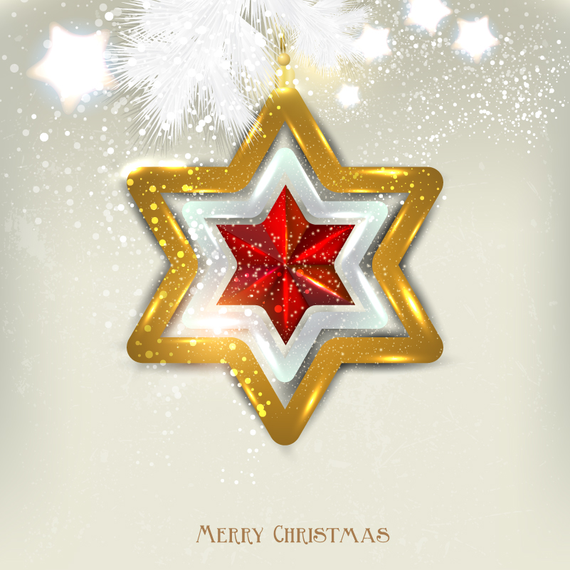 Christmas Hexagon Charm Vector