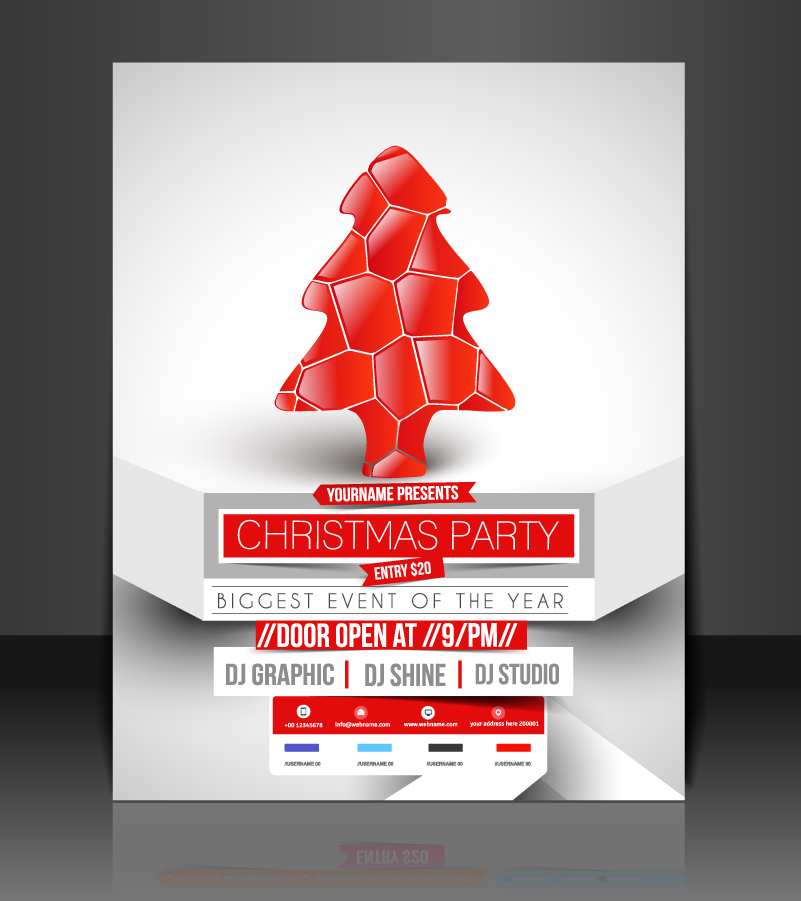 Christmas Party Biggest Event Of the Year Vector