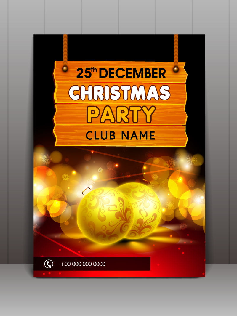 Christmas Party Night Club Vector