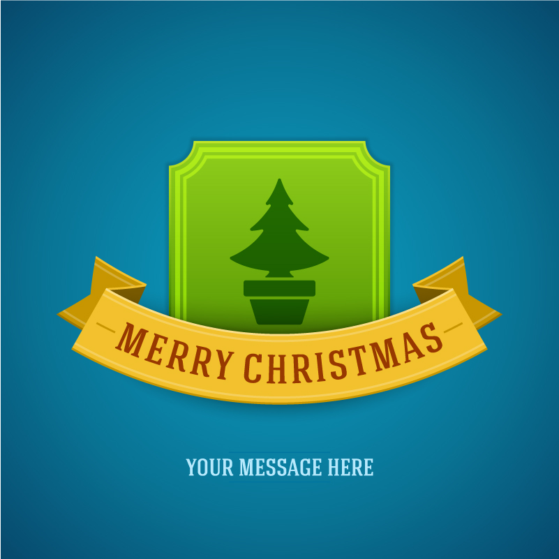 Christmas Potted Label Background Vector