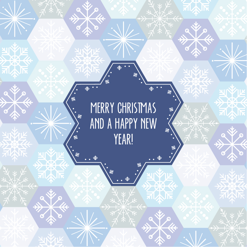 Christmas Snowflake Background Labels Vector