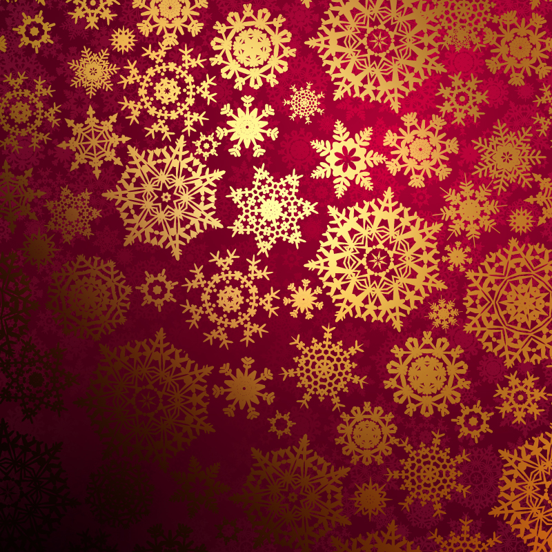 Christmas Snowflake Pattern Background Vector