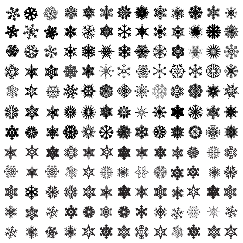 Christmas Snowflake Style Icon Vector