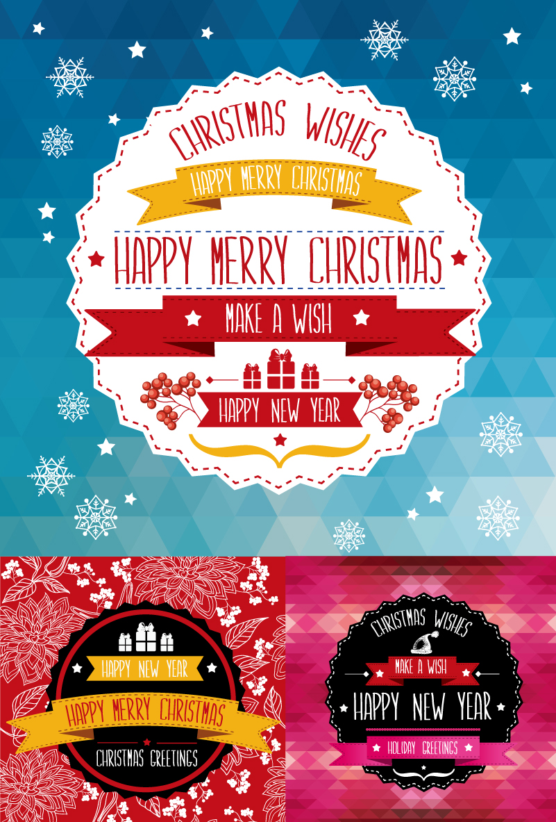 Christmas Wishes Holiday Greeting Poster Vector