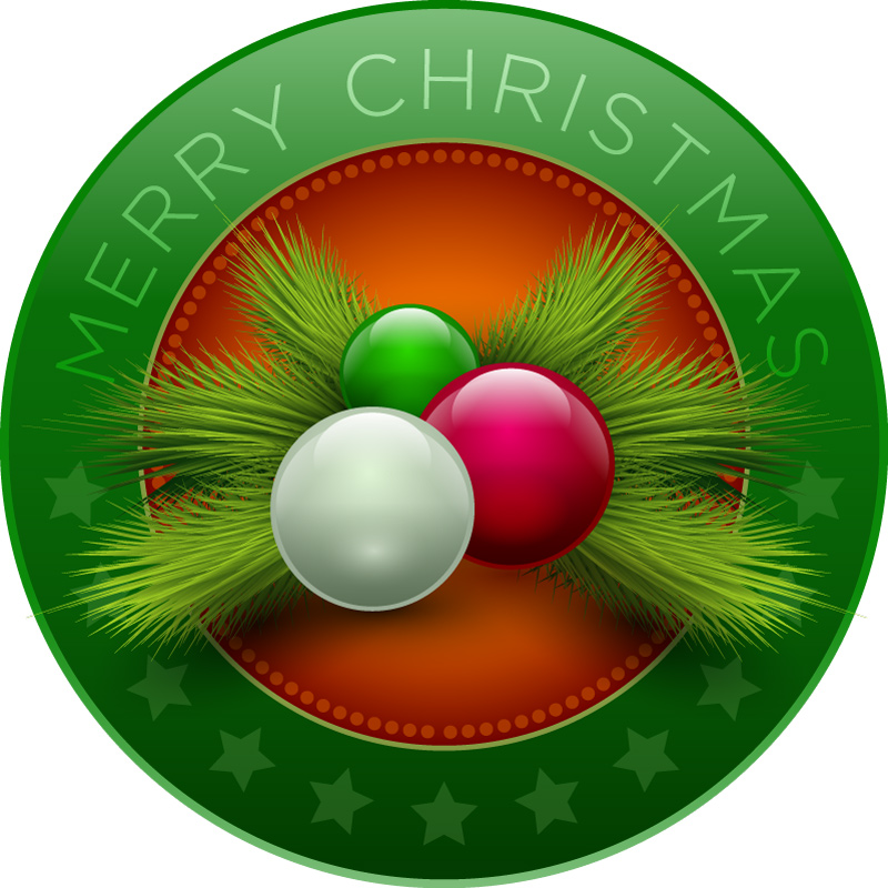 Christmas Wreath Ball Vector