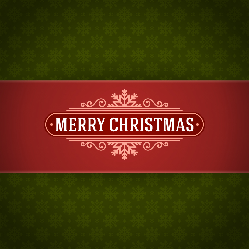 Elegant Christmas Poster Design Vector