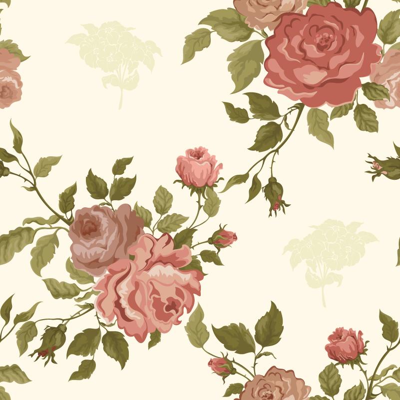 Elegant Roses Background Vector