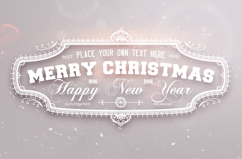 Gray Christmas Plaque Vector