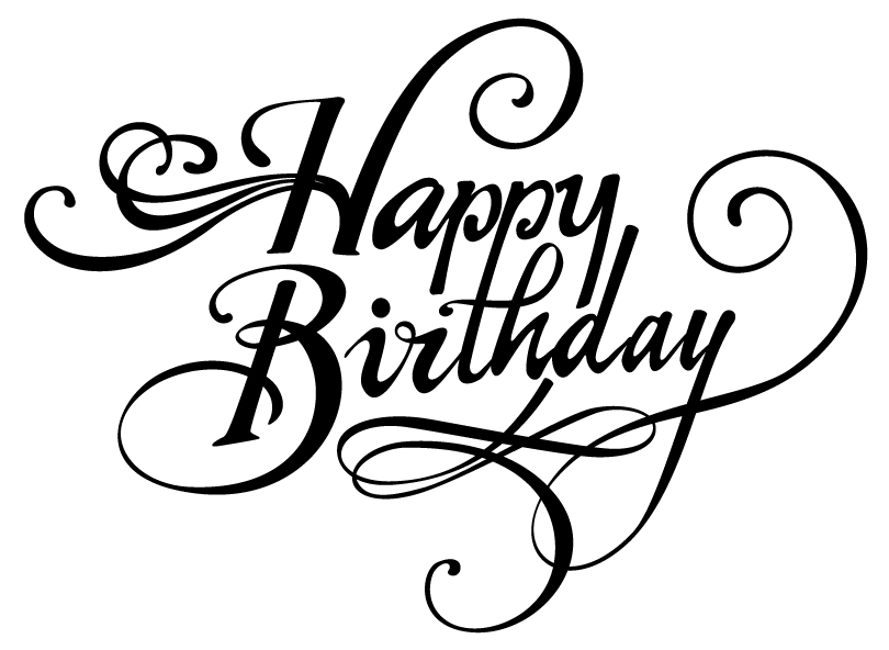 Happy birthday dancing font design vector free download
