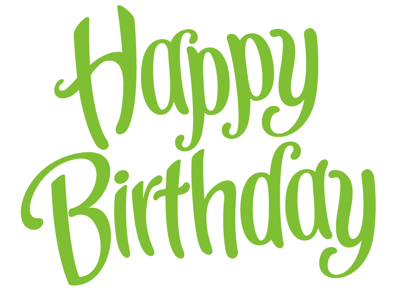 Happy Birthday Green Font Vector