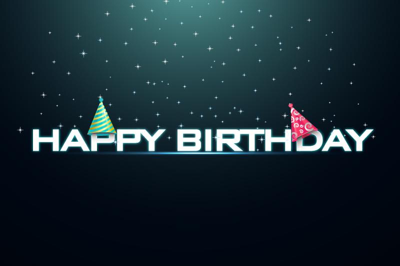 Happy Birthday Night Sky Vector