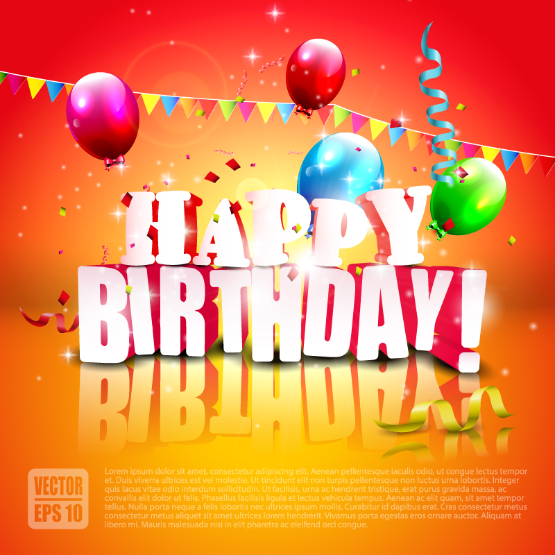 Happy Birthday Pennant Ribbon vector