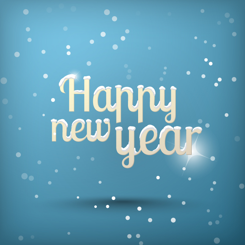 Happy New Year 2014 SnowFlake Vector