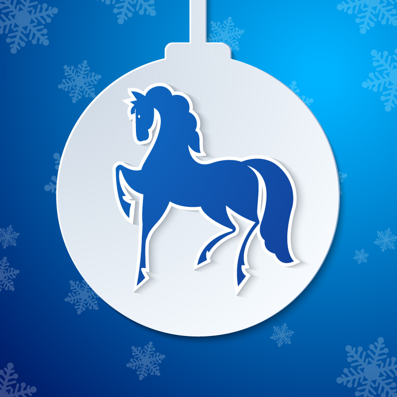 Horse Lob Christmas Background Vector