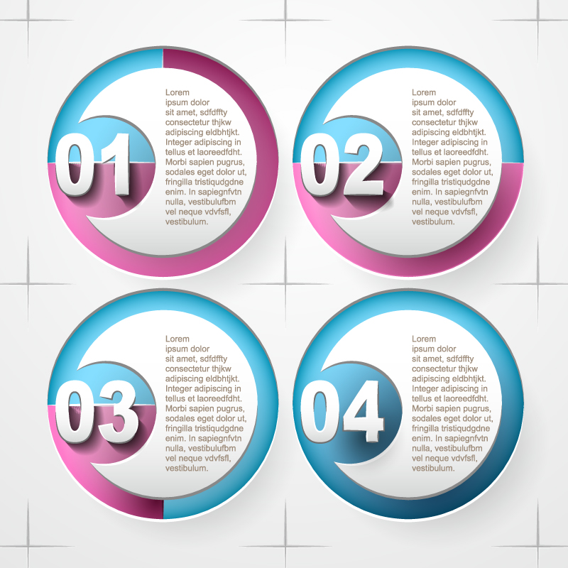 Infographic Circle Style Vector
