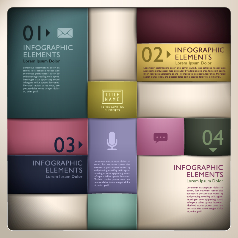 Infographic Elements Box Shadow Vector