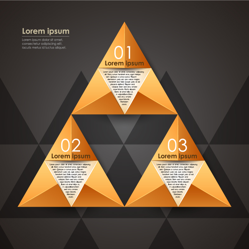 Infographic Triangle Fold Vector