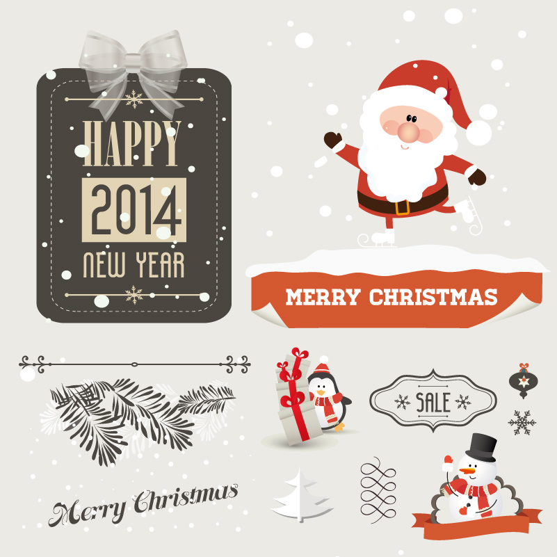 Merry Christams Snowman Tag Vector