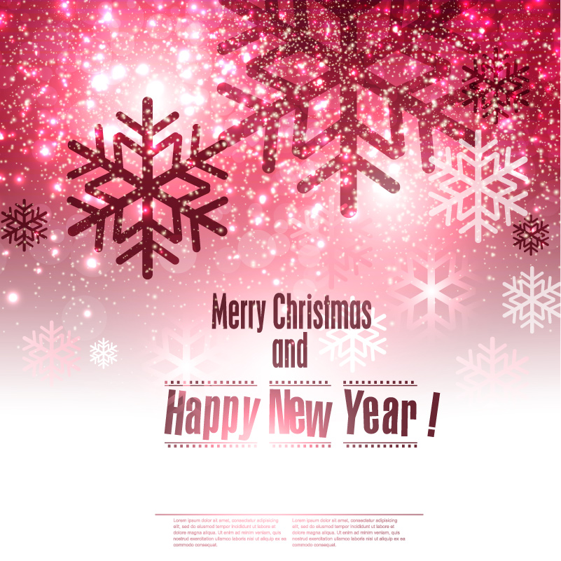 Merry Christmas Abstract Snowflake Background Vector