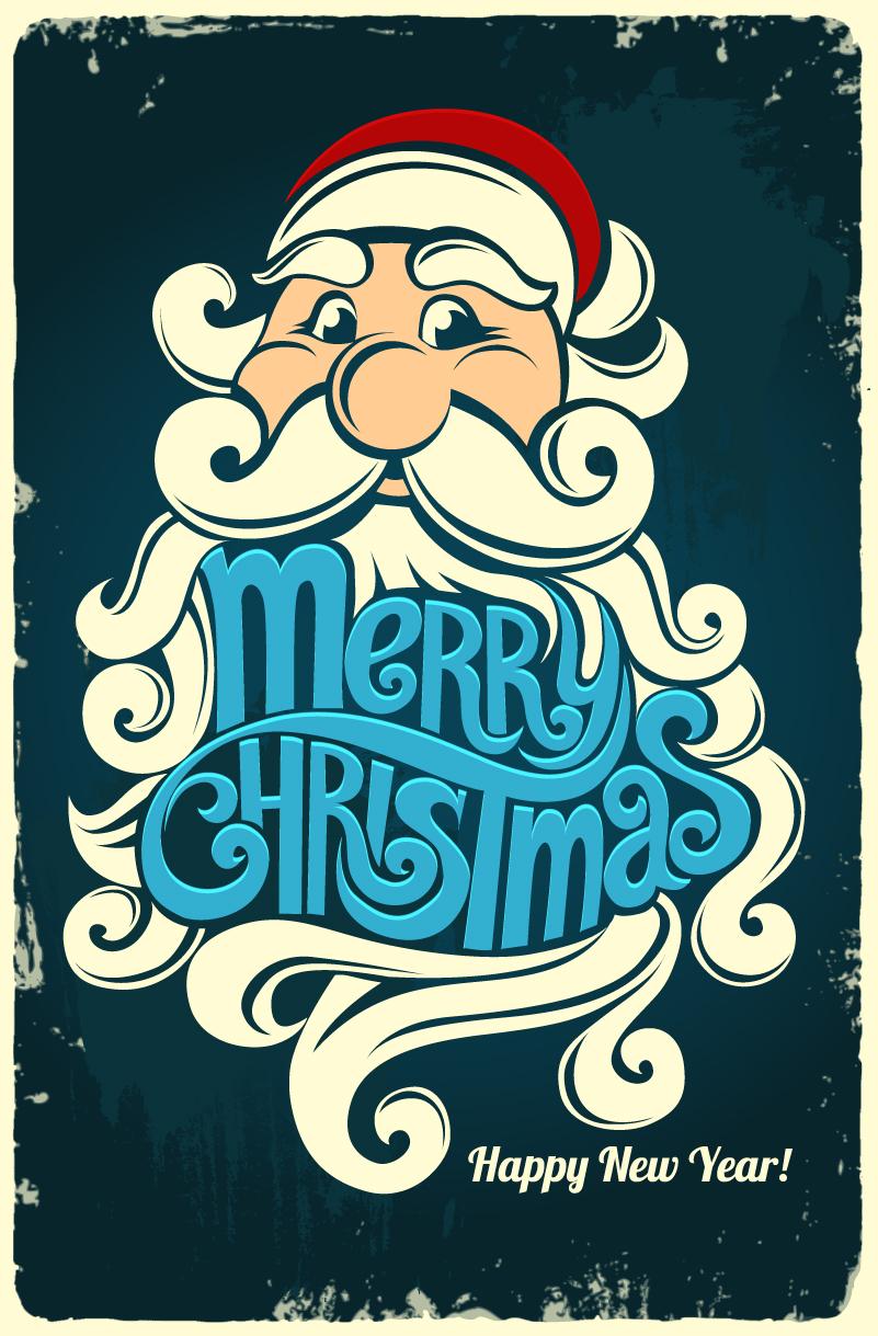 Retro Santa Claus Vector
