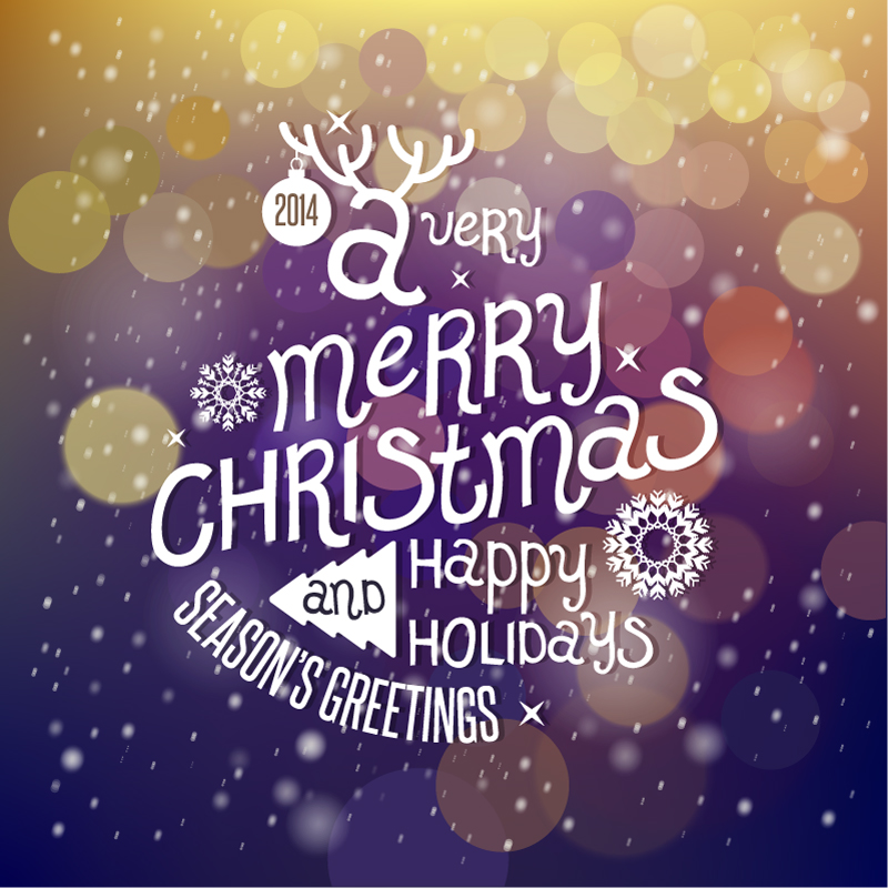 Season\'s Greetings Christmas 2014 Purple Background Vector | Free ...