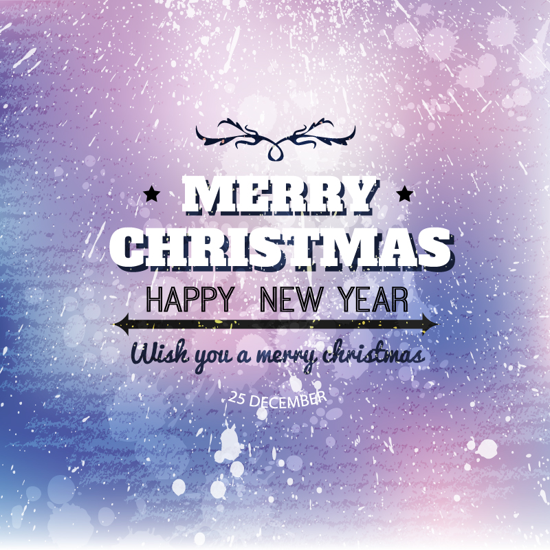 Snow Background Christmas Poster Vector
