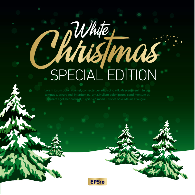 White Christmas Special Edition Vector