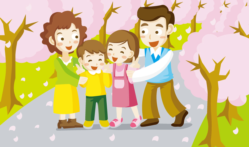 Cartoon Family Illustrator Vector
