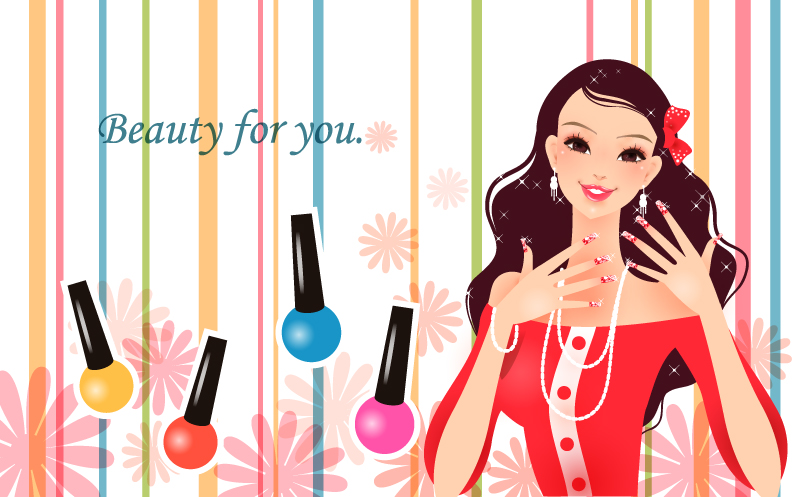 Beauty Images Free Cartoon Makeup Beauty Vector