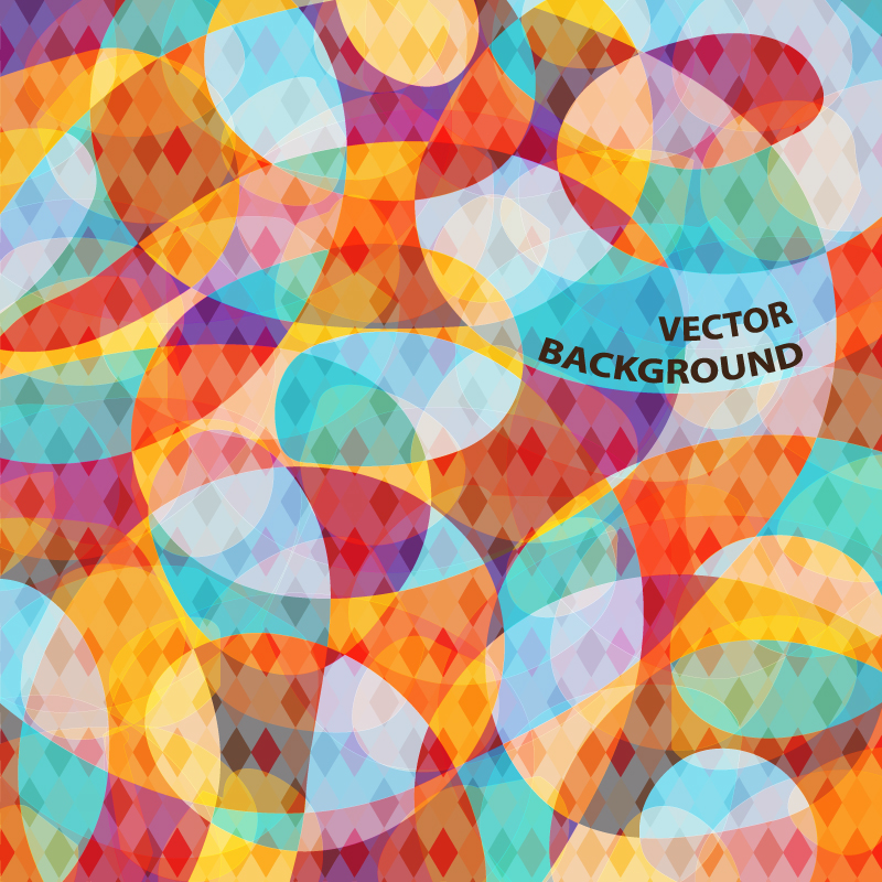 Colored Abstract Pattern Background Vector