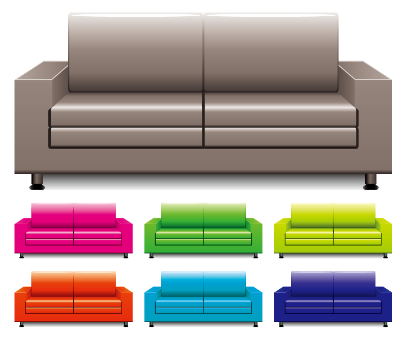 Colorful Sofas Vector Free Vector Graphic Download