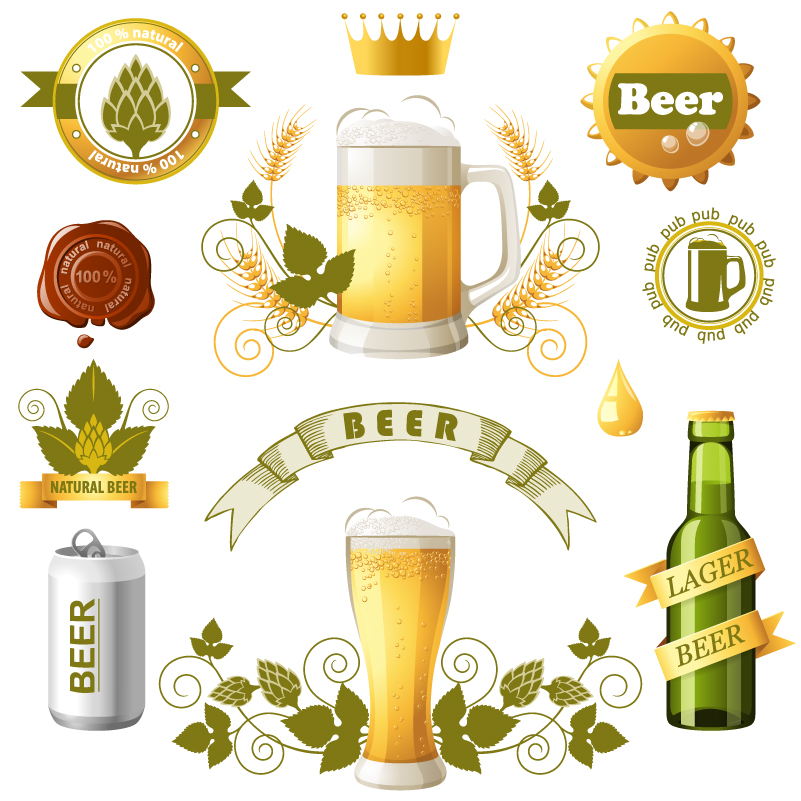 Creative Beer Label icon Vector