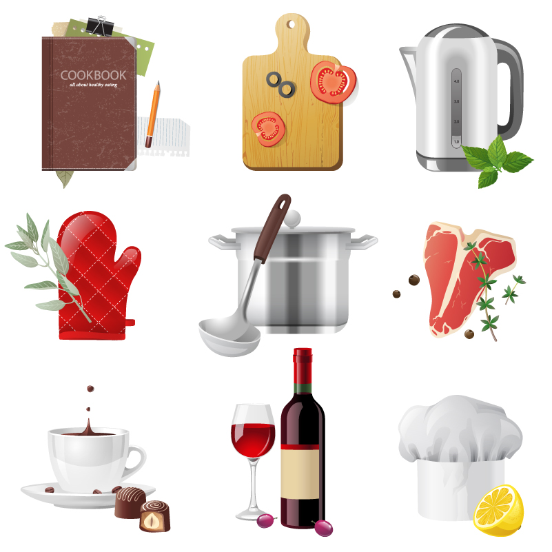 Exquisite Kitchen Supplies Vector