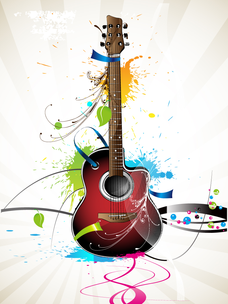 Guitar Ink illustrator Vector
