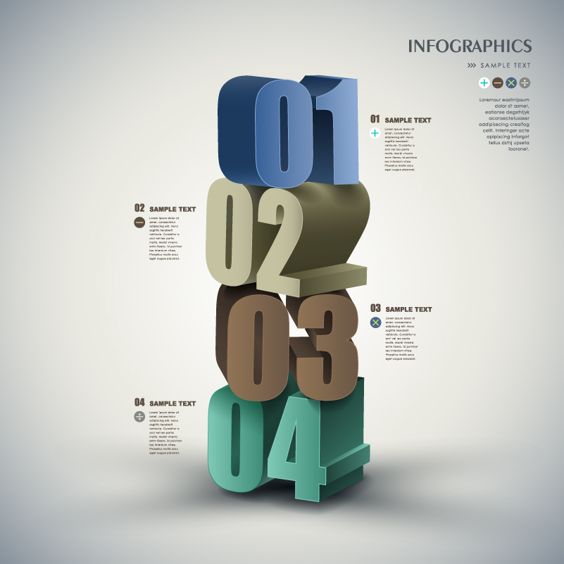 Infographic 3D Number Vector