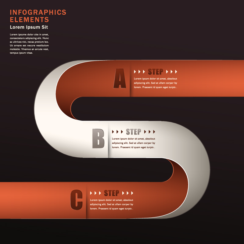 Infographic Circular Track Vector
