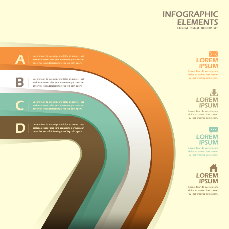 Infographic Color Paper Option Vector