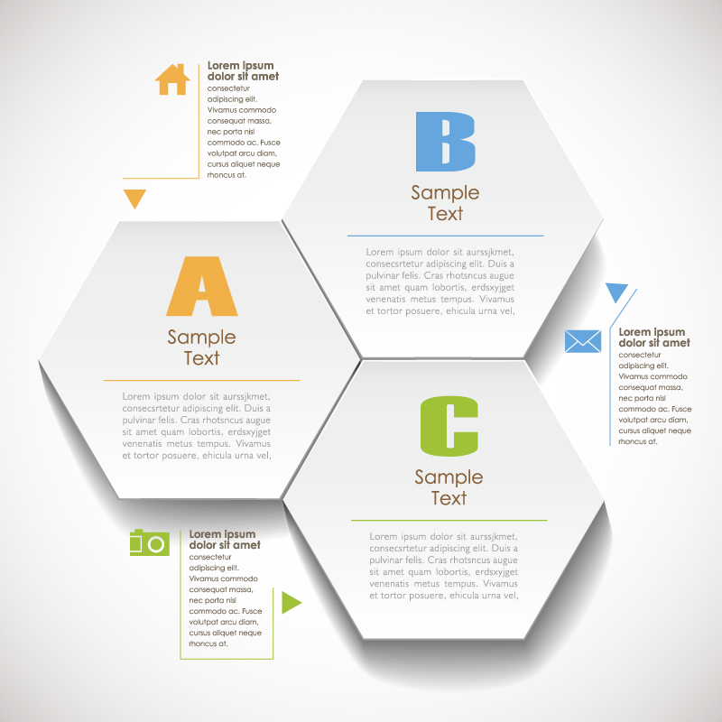 Infographic Hexagon Arrow Vector