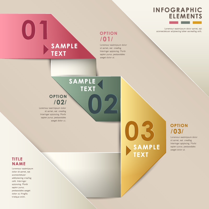 Infographic Origami Option Vector