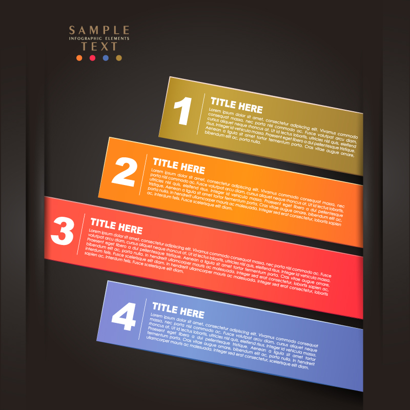 Infographic Strip Title Vector