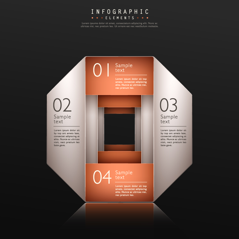 Infographic Superimposed Effect Vector