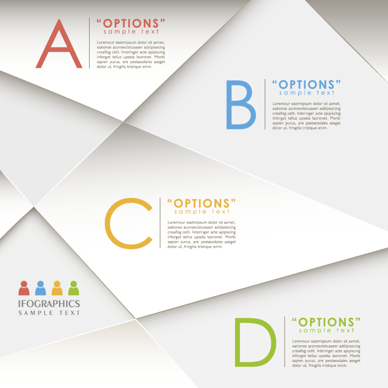 Infographics Sample Text ABCD Vector
