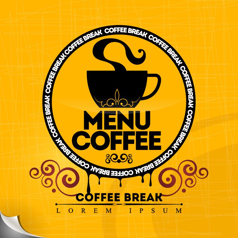 Menu Coffee Break Vector