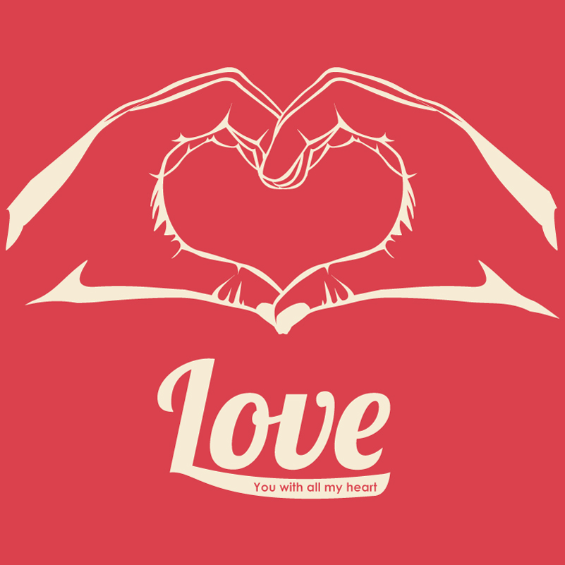 Valentine's Day Hand Love Heart Vector
