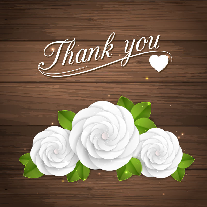 Valentine's Day White Rose Vector