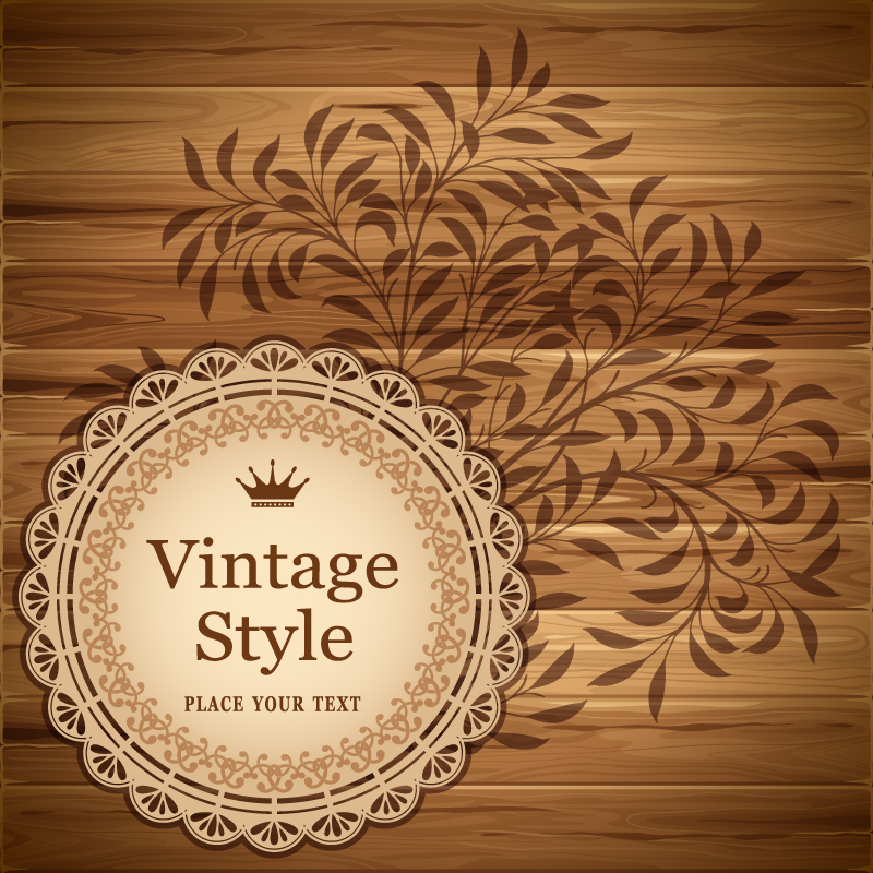 Vintage Wood Pattern Background Vector