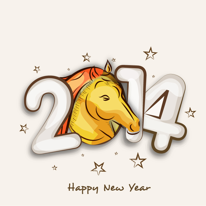 2014 Horse Posters Vector