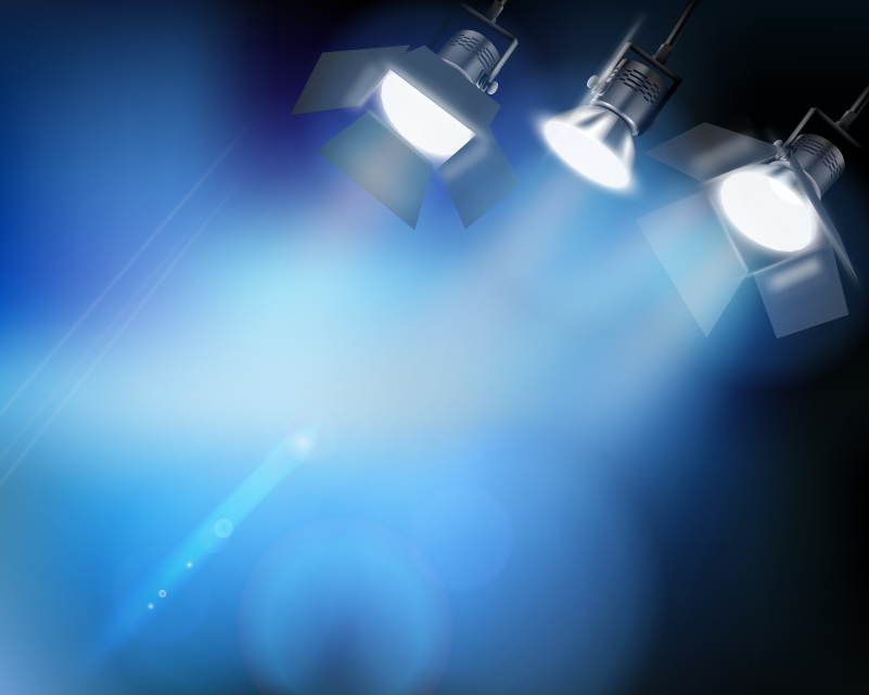 3 Spotlight Stage Vector