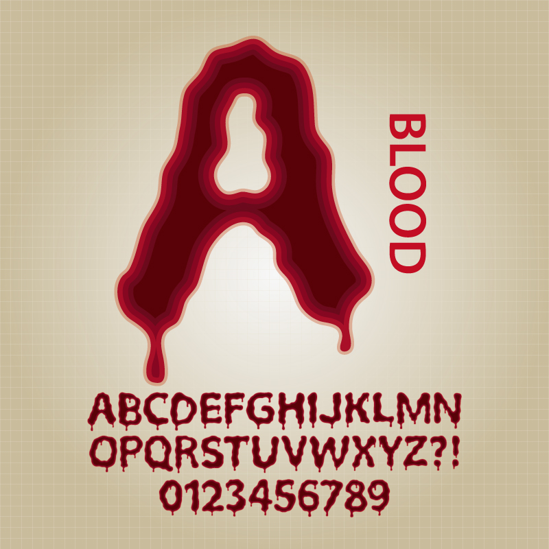 Blood Font Design Vector