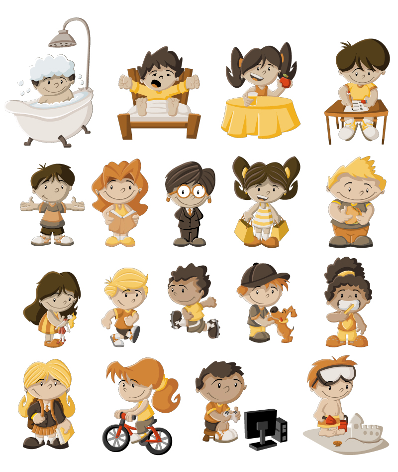 Cartoon Children Design Vector